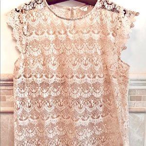 Pretty blush lace top